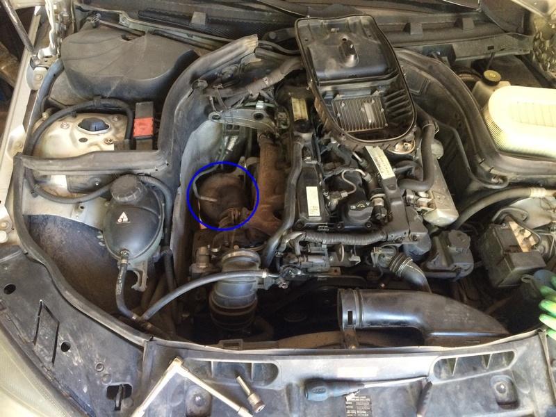 Mercedes-сажевый-фильтр-расположение Удаление сажевого фильтра и клапана ЕГР в Mercedes Benz W204 C200 CDI