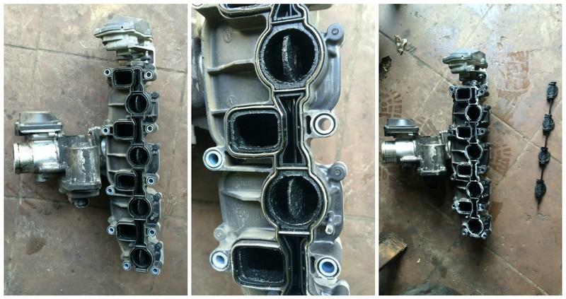 1-1 Удаление сажевого фильтра, клапана ЕГР и вихревых заслонок на Volkswagen Passat b6 2.0TDI