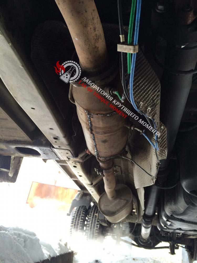 17 Удаление и отключение сажевого фильтра на Ford Transit 2.2 2014 г.в.