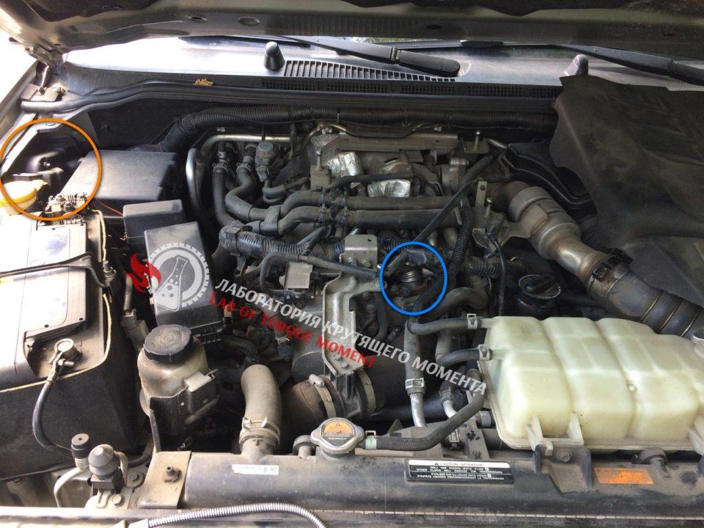 2-2-1024x768 Удаление клапана ЕГР и чип тюнинг на Nissan Pathfinder 3.0 V6 TDI 231 л.с.