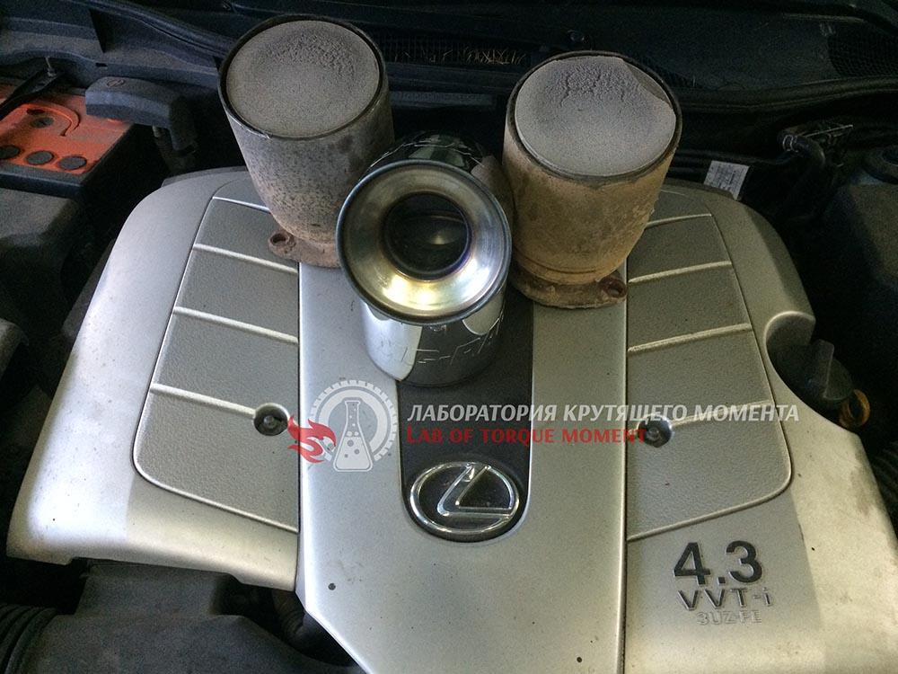 2 Удаление катализаторов на Lexus GS 430 и прошивка на евро2